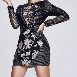 Boohoo premium Tara long sleeve bodycon dress